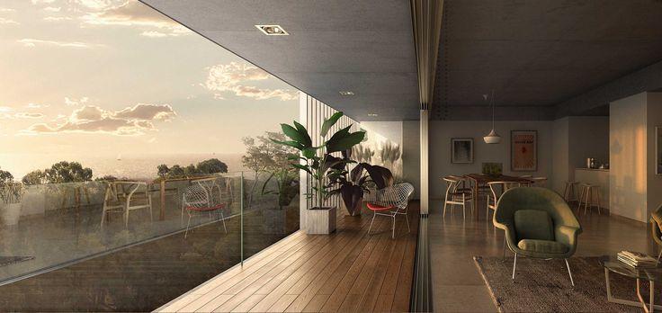 Edificio multifamiliar de 66 unidades de 1, 2, 3 ambientes. Autores: Sebastián Cseh - Arq. Juan Cruz Catania #arquitectura #architecture