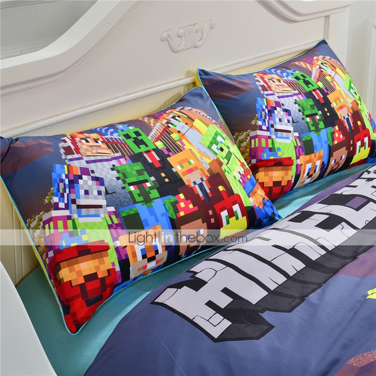 New Arrival Minecraft Bedding Set Vivid Kids Comforter Sets 3D Print Sheet Set 2pcs Or 3pcs Twin Queen King 2015 – $45.99