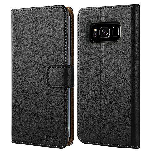 Galaxy S8 Hülle, HOOMIL Handyhülle Samsung Galaxy S8 Tasche Leder Flip Case Brieftasche Handy Schutzhülle für Samsung S8 Cover - Schwarz (H3059) #Galaxy #Hülle, #HOOMIL #Handyhülle #Samsung #Tasche #Leder #Flip #Case #Brieftasche #Handy #Schutzhülle #für #Cover #Schwarz