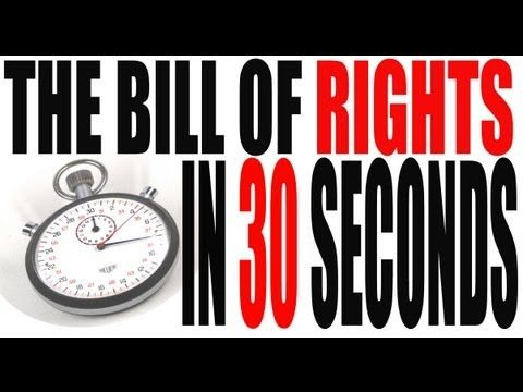 The Bill of Rights in 30 Seconds - could adapt the concept and assignment for literature