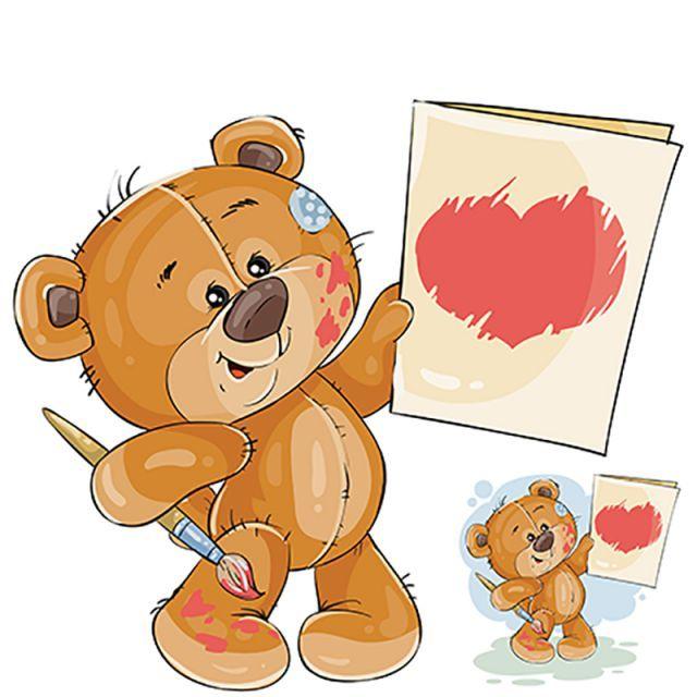 Ilustracao Vetorial De Um Ursinho Segurando Nas Patas De Um Painte Ilustracoes Vetoriais Ilustracao De Urso E Ursinho Png