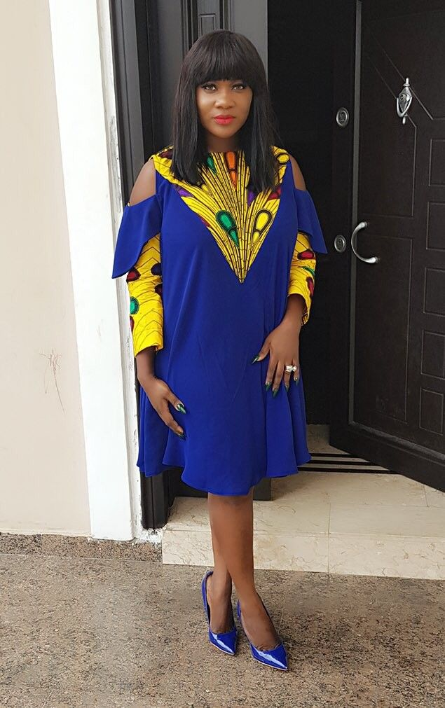 Image result for Mercy Johnson Looked Delectable Wearing Ankara