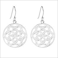 Starlight earrings, 25mm, stainless steel