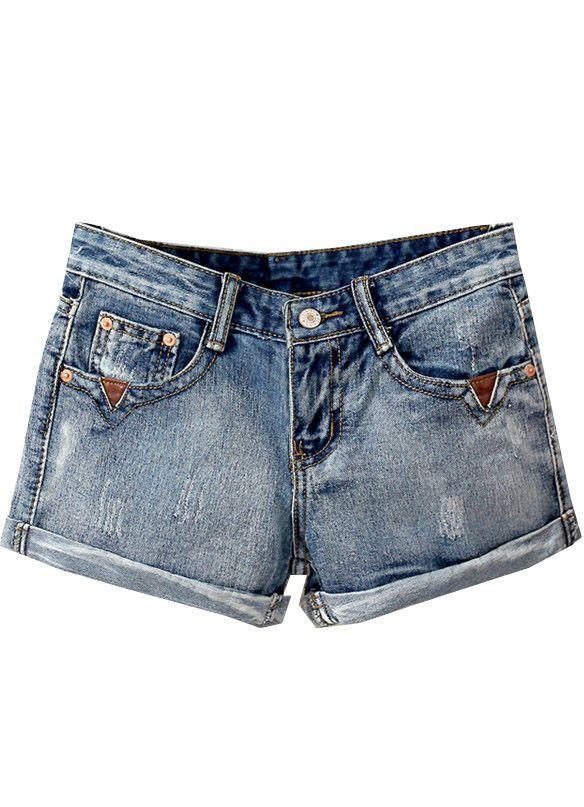 Shorts Denim lavado vintage-azul US$20.00