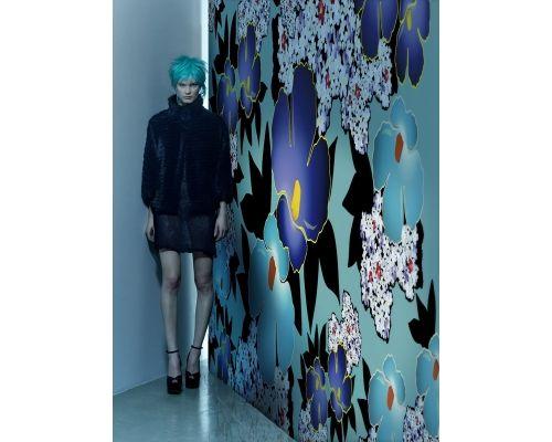 Piękne wykonana grafika kwiatów. Designerskie tapety http://esencjadesign.pl/wall-deco-gio-pagani-13/2689-blue-china.html