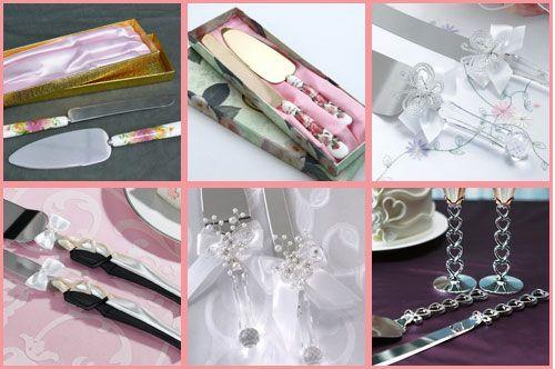 Нож и лопатки для свадебного торта