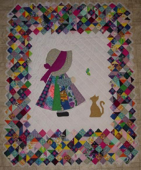994 best Sun Bonnet Sue/Sam quilts images on Pinterest Applique templates, Baby blankets and ...