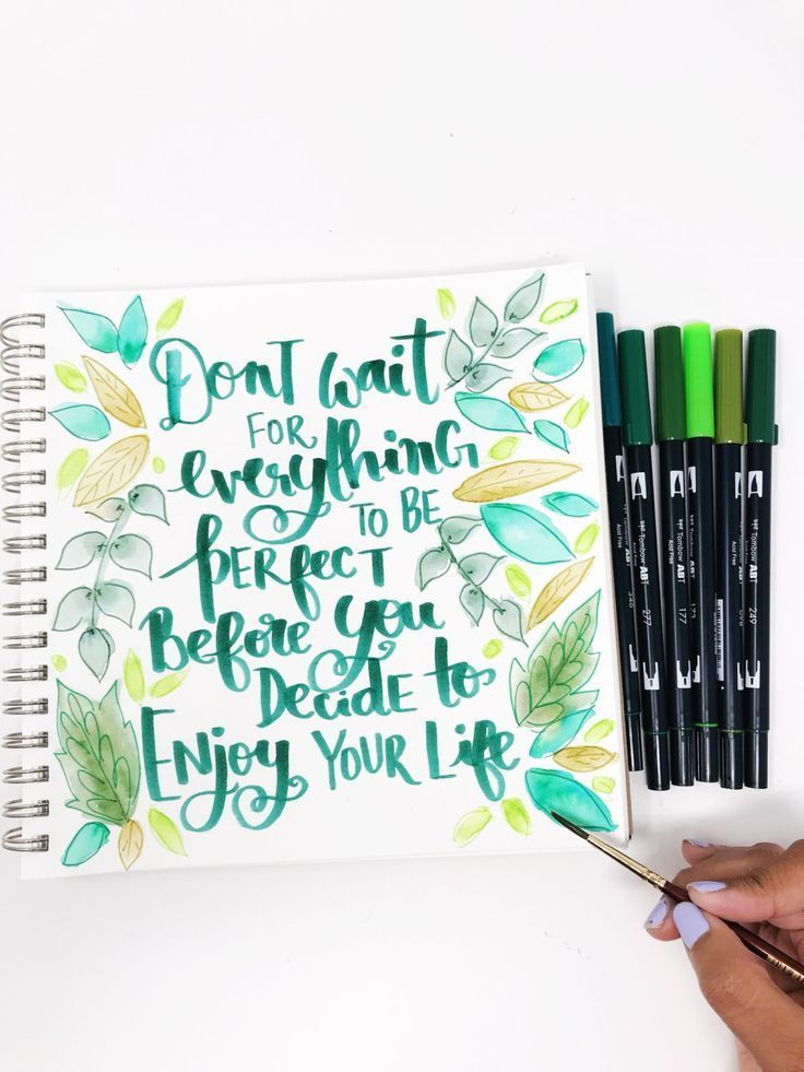 Single Color Quote Art Using Dual Brush Pens Brush Pen