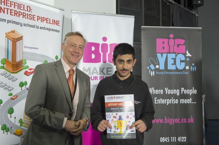 At just 14 years old, Adnaan Walayat of Silverdale School has become the first overall winner of the first Sheffield Young Digital Makers Competition, Code Make Win.