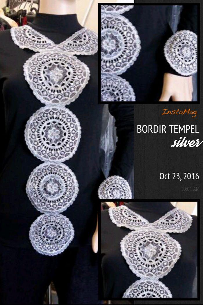 Bordir tempel silver