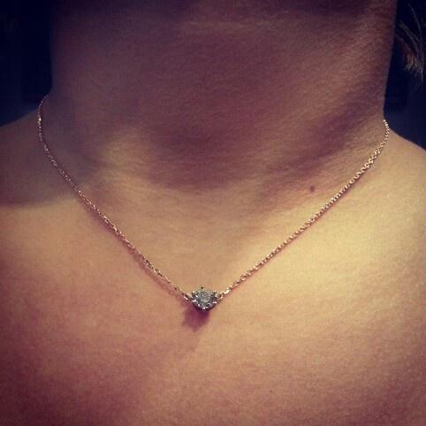 #collier #jewelery #love #style #ilove #diamond #diamant #solitaire
