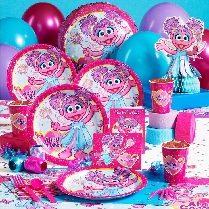 Abby Cadabby Party Supplies. Pairs well with Elmo and Sesame Street to include…