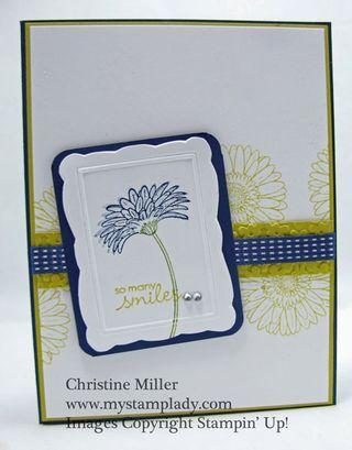 Reason To Smile (retired), Petite Pairs, & Designer Frames embossing folders. Thanks Christine!