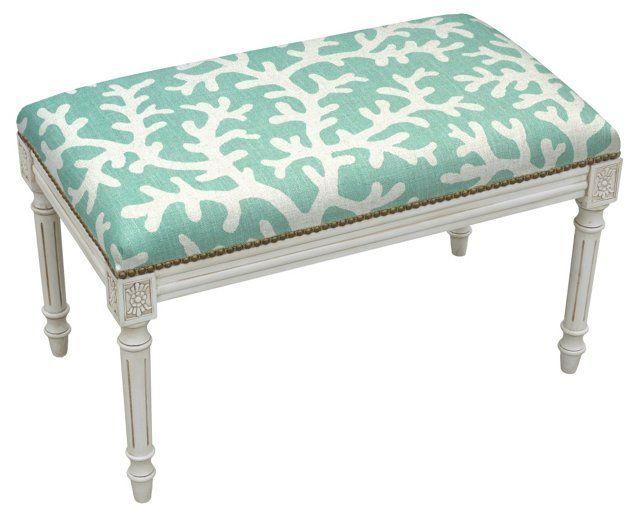 Ollie 32 Quot Bench Aqua Coral Bedroom Pinterest Ps