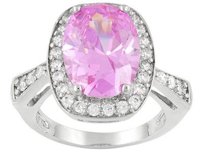 Pink and sparkly, what could be better!   Titanic Jewelry Collection (Tm) Helene's Cristaux Ring