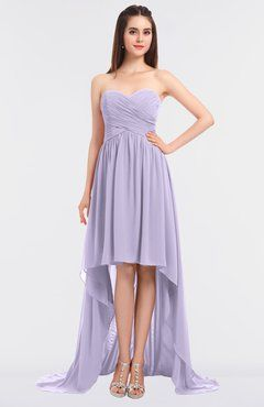 1173386a2e570 Light Purple Sexy A-line Strapless Zip up Sweep Train Ruching Bridesmaid  Dresses