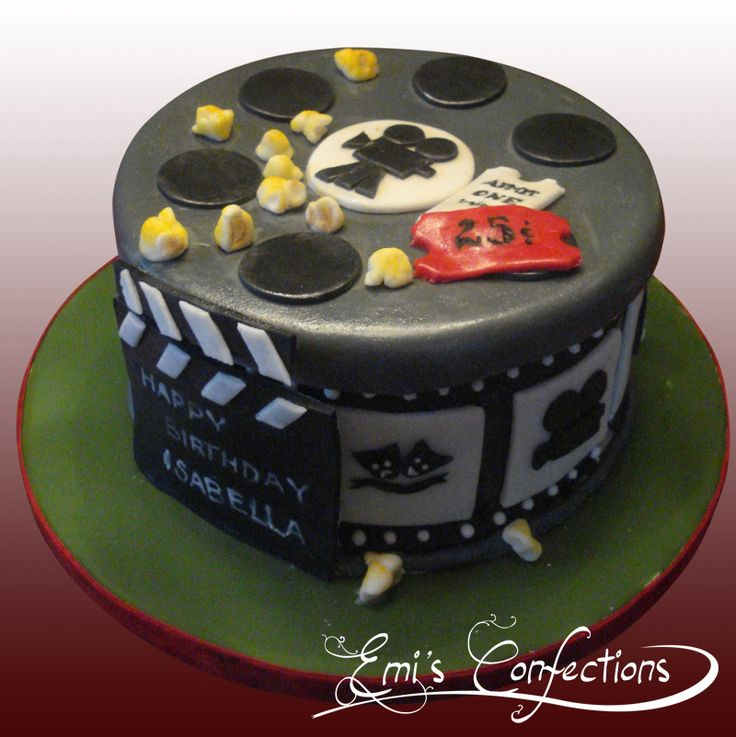 Cake With Photo Reel : 11 best images about ideas for bday cake for livs movie ...
