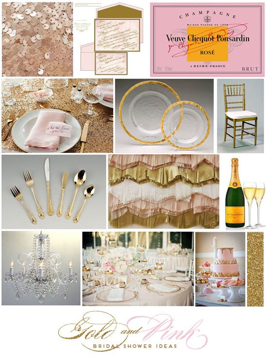 Glamorous Surprise Backyard Bridal Shower with gold and pink decorations and a Nacho Bar. Such a fancy and doable event for your best friend.