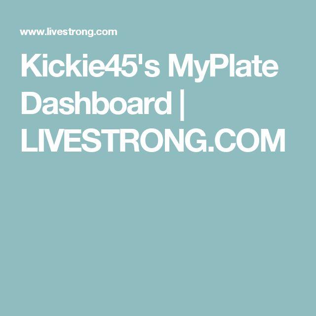 Kickie45's MyPlate Dashboard | LIVESTRONG.COM