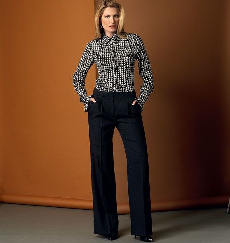 Misses' Straight-Leg Pants, V9032 http://voguepatterns.mccall.com/v9032-products-48756.php?page_id=174