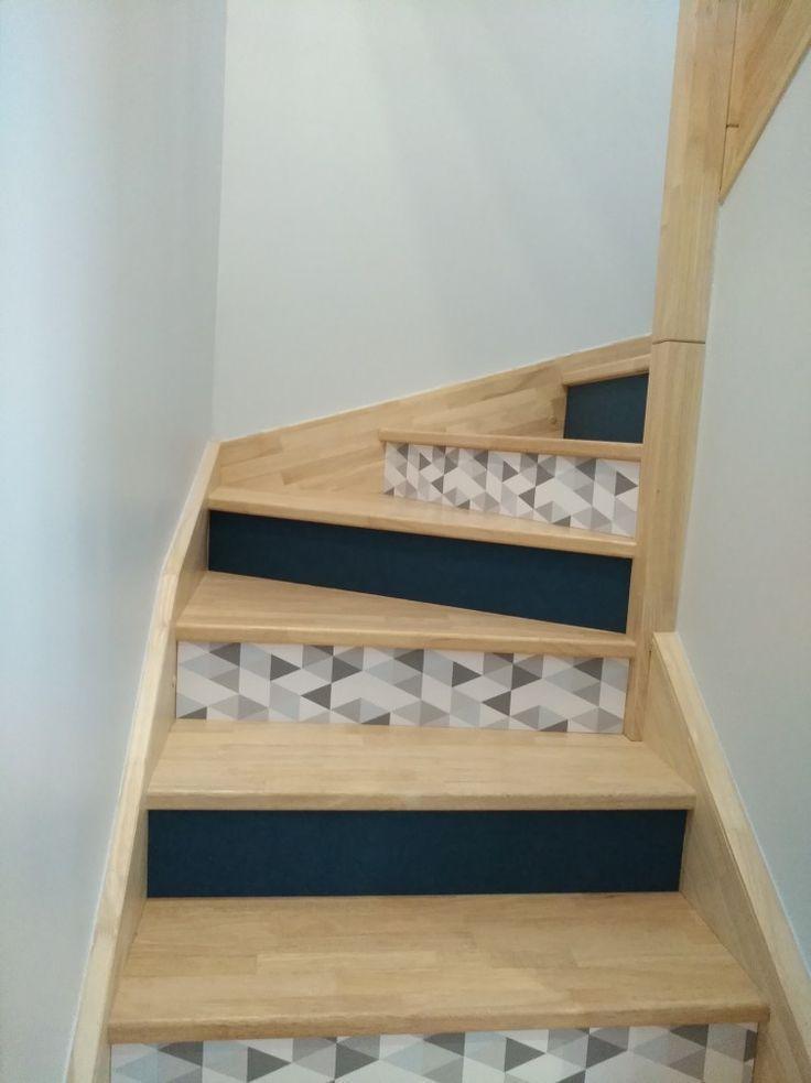 Customisation contres marches escalier avec du papier peint – #avec #contres #Cu…