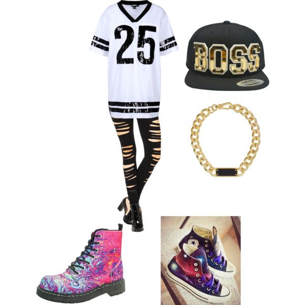Untitled #25 by saiyabedi on Polyvore featuring DKNY, T.U.K., Converse, MARC BY MARC JACOBS and SwaggWood