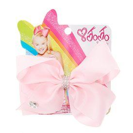 JoJo Siwa Small Rhinestone Keeper Pink Hair Bow