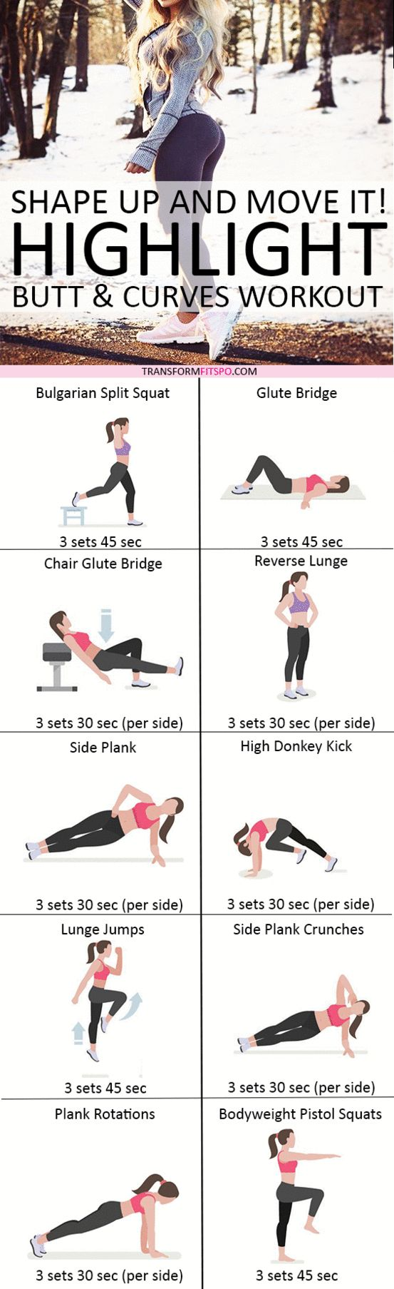 Repin and share if this workout lifted and rounded your bum! Read the post for all the information!