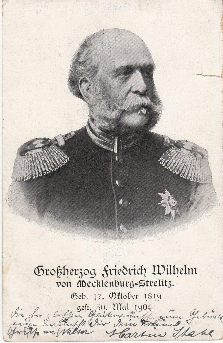 Großherzog Friedrich Wilhelm v Mecklenburg Strelitz Trauerlitho 1904