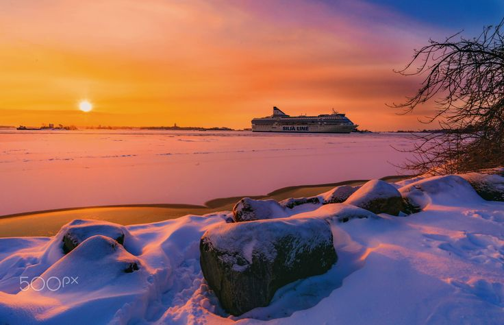 Silja Line in the Gulf of Finland - null