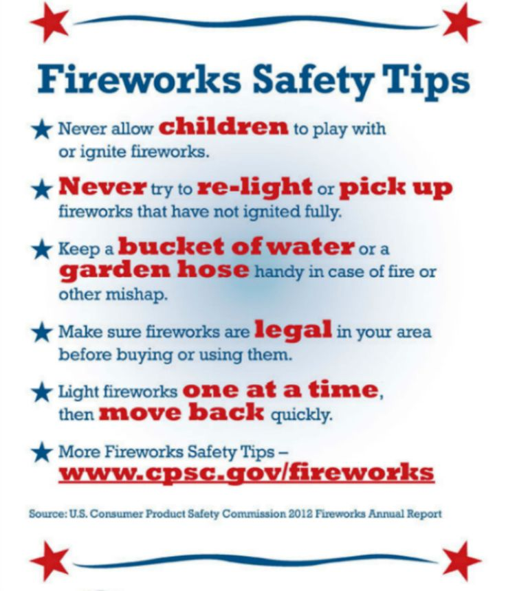 Firework safety tips and local firework show information! #fireworks #safekids
