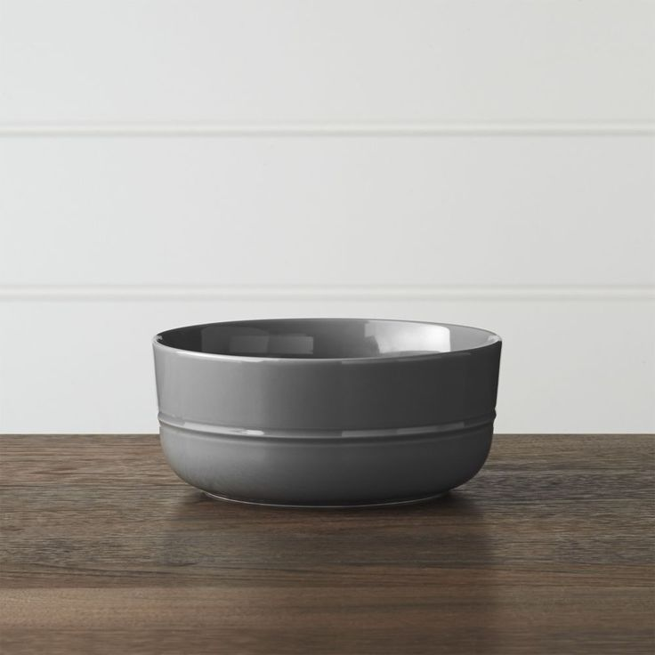 Hue Dark Grey Bowl - Crate and Barrel