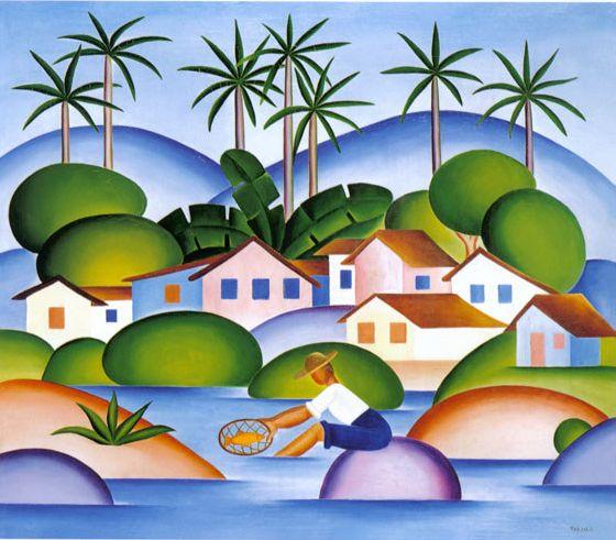 Tarsila do Amaral - Pintora e desenhista Brasileira Modernista - Obras                                                                                                                                                     Mais
