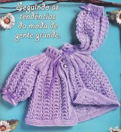 Passo a passo – Casaquinho lilás com fita | Rio Artes Manuais