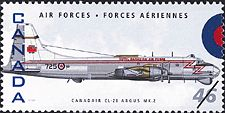 Canadian Postal Archives Database Postal Administration: Canada Title: Canadair CL-28 Argus MK.2 Denomination: 46¢ Date of Issue: 4 September 1999