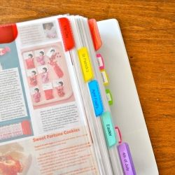 Organize all your ripped out magazine inspiration pages ~~  Full tutorial at Make Life Lovely.