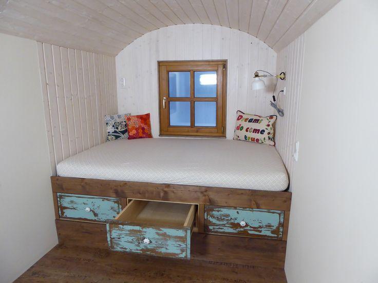 Bett für den Bauwagen für vier Personen