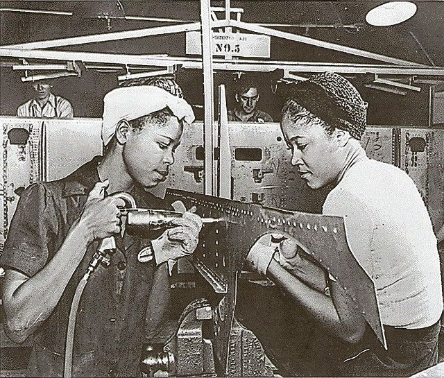 Rosie the Riveter, African American style (thought you'd love this! Now the song is in my head)