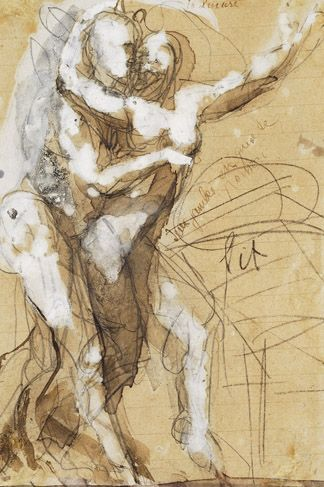 Rodin has the best sketch work, love the simplicity and how the forms interact with each other, true passion. #FredericClad