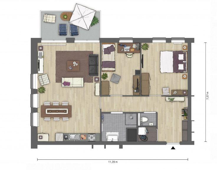 Plattegronden huis lange woonkamer beste inspiratie voor for Inrichting tekenen