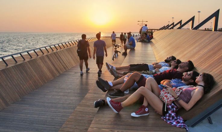 This beautiful footbridge in Izmir, Turkey, offers much more than a passage from one side of Bostanlı Creek to the other, but also double as a public park, specifically designed for sunset viewing.