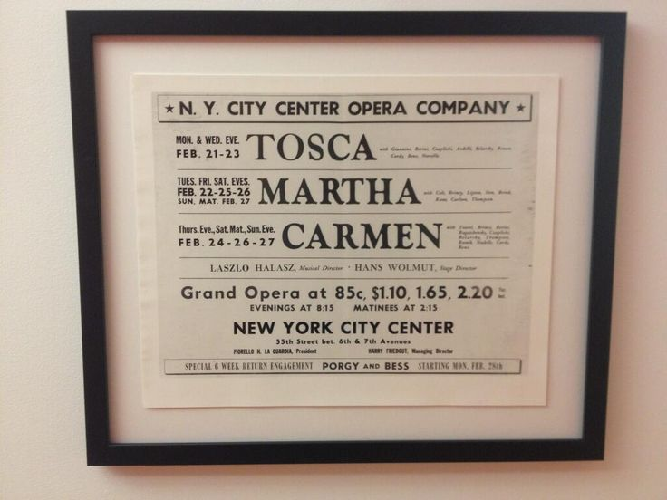One of our first posters from 1944!: 1944, Legendary, Opera, Posters