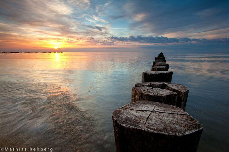 Buhnen an der Ostsee bei Zingst