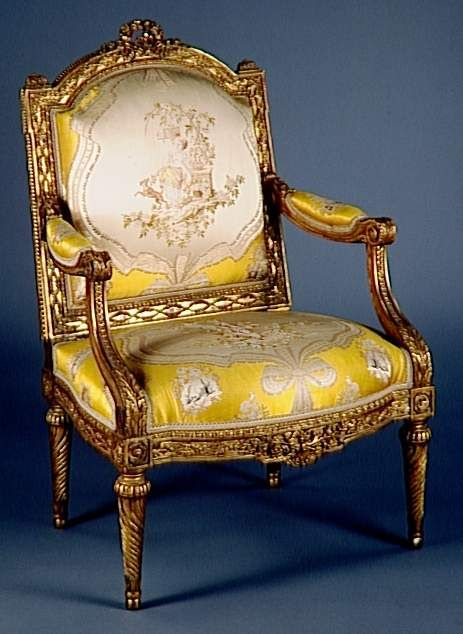 Armchair by J. B. Tilliard et J. B. Boulard, from the furniture of the office of Louis XVI at Compiègne,