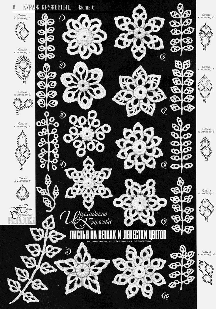 1207 best irisch crochet Blumen images on Pinterest | Irisch häkeln ...