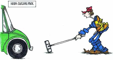 when curlers park