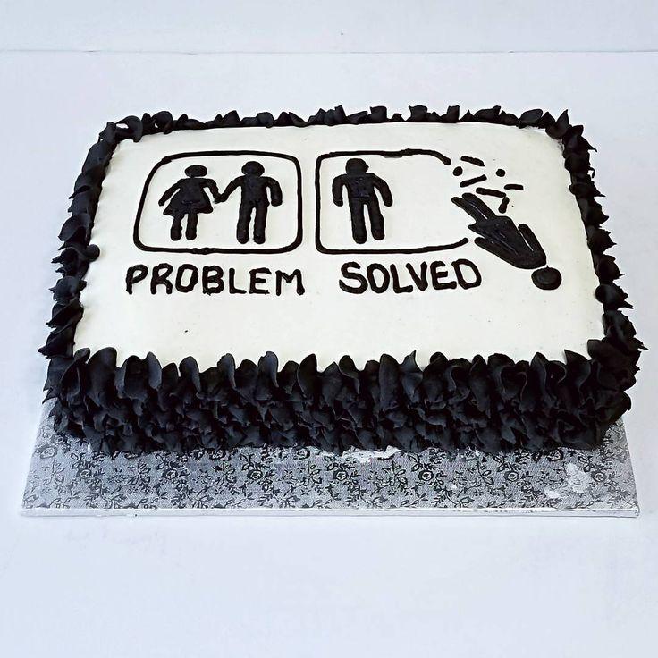Divorce celebration cake