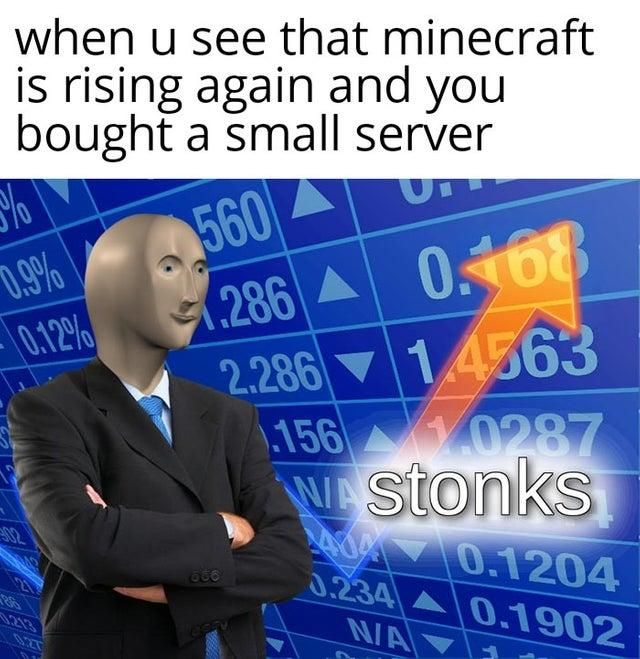 Minecraft Stonks Funny Memes Best Funny Photos Funny Photos