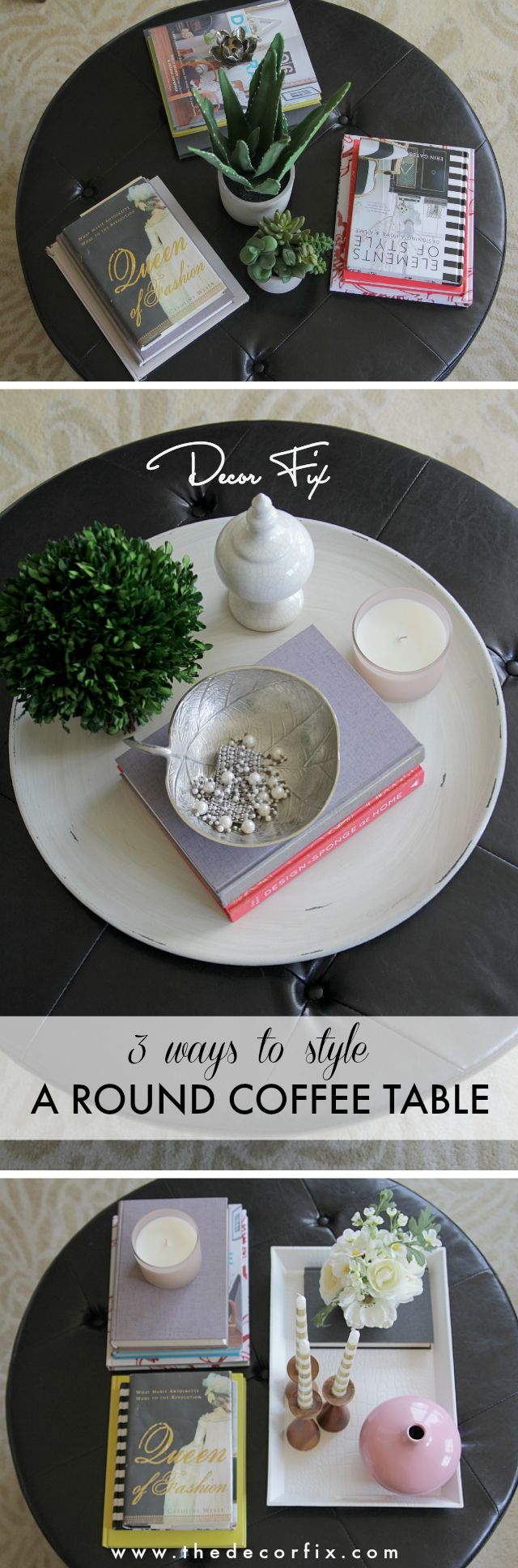 Learn 3 fail-proof ways to style a round coffee table from Heather Freeman.