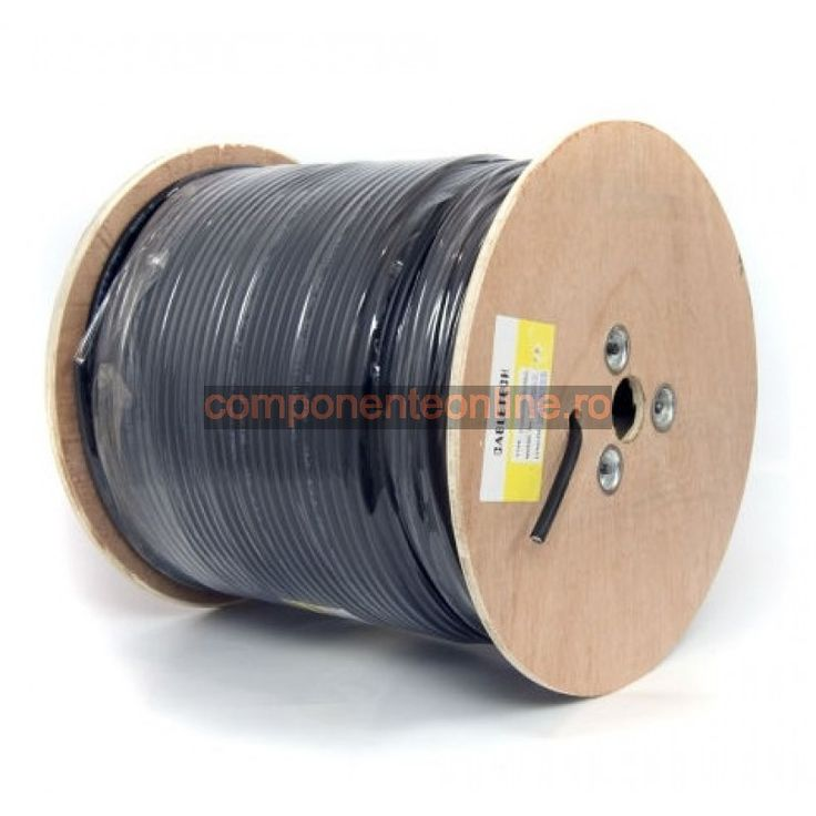 Cablu coaxial, F690BV+gel, cupru, negru - 402266